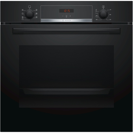 4fd0595d164 Bosch Oven HBA533BB0S Built-in, 71 L, Black, Eco Clean, A, Push pull  buttons, Height 60 cm, Width 60 cm, Integrated timer, Electric