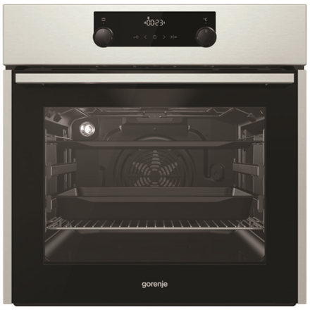 c954b6e4348 Gorenje Oven BO735E11X 71 L, Stainless steel, AquaClean, A, Mechanical,  Height 60 cm, Width 60 cm, Integrated timer, Electric