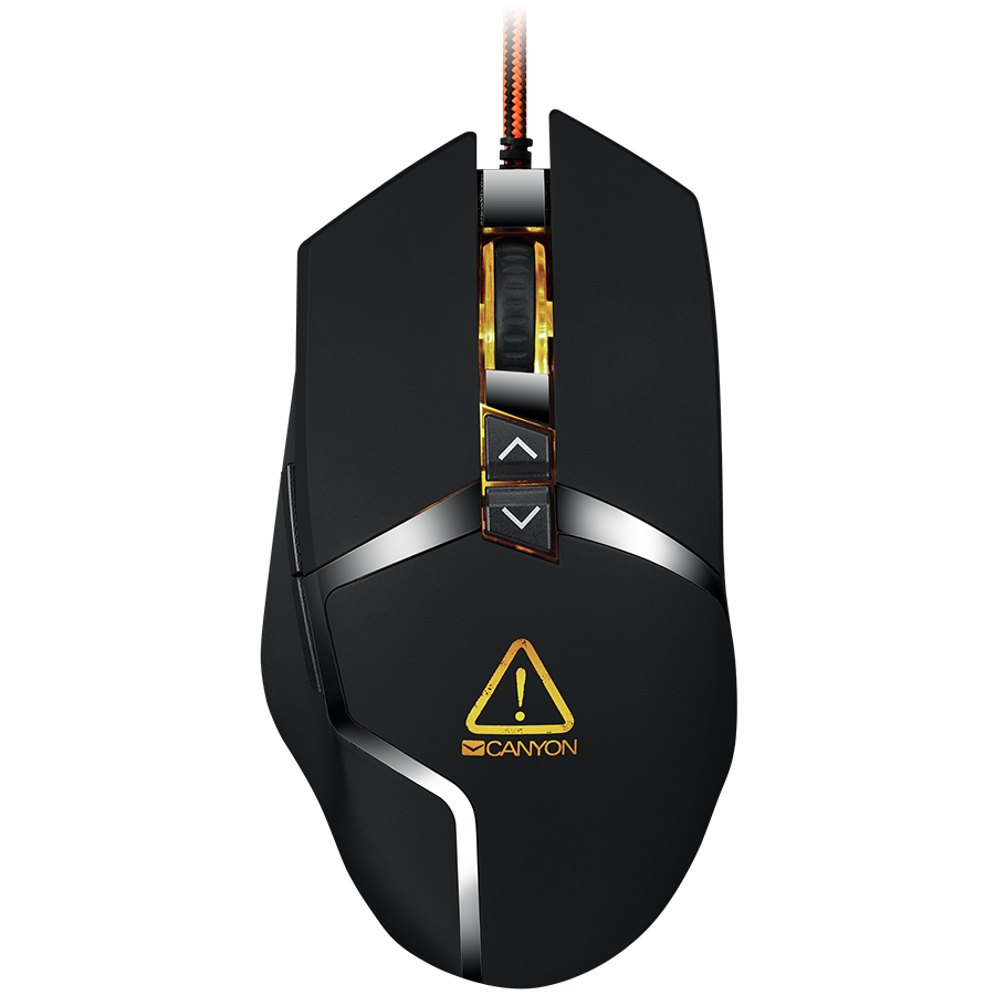 f1cad4c66ac CANYON Wired gaming mouse programmable, Sunplus 189E2 IC sensor, DPI up to  4800 adjustable by software, Black rubber coating with chrome design