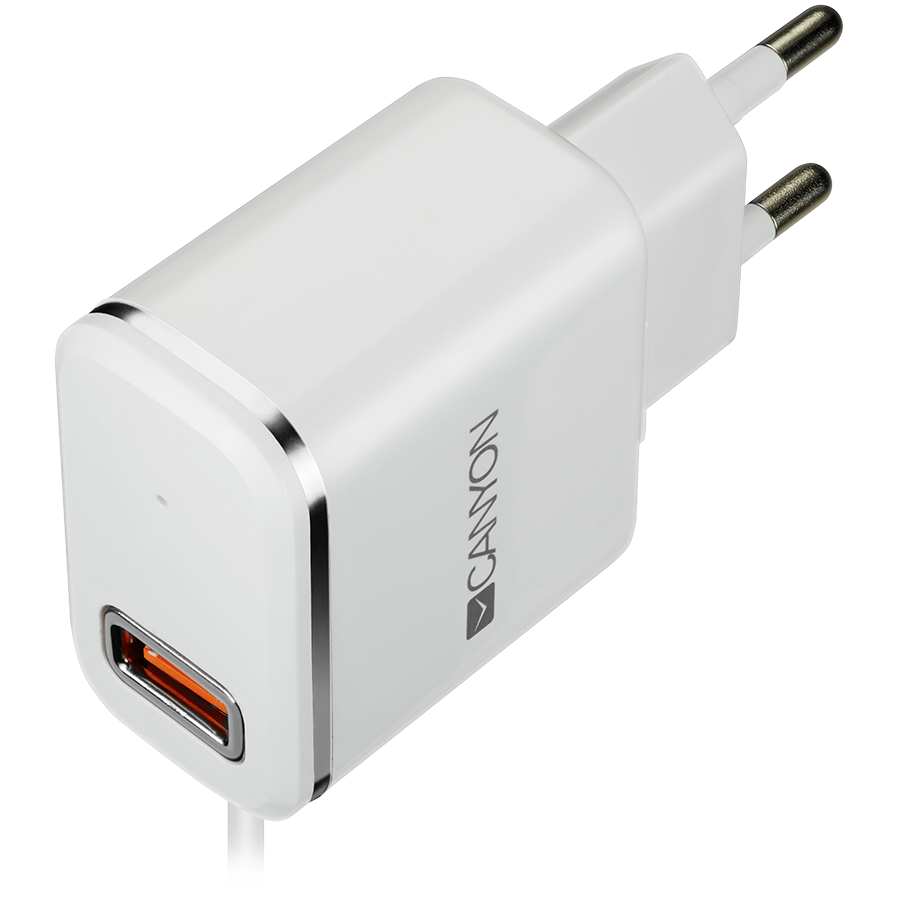 870e9b451bc CANYON Universal 1xUSB AC charger (in wall) with over-voltage protection,  plus lightning USB connector, Input 100V-240V, Output 5V-2.1A, with Smart  IC, ...