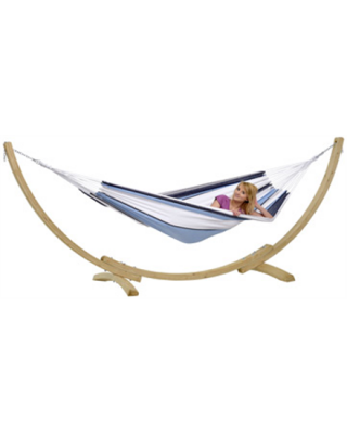 Amazonas Apollo Set marine Double Hammock with Stand, 210x140 cm, 150 kg