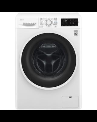 LG Washing machine F2J6HM0W Front loading, Washing capacity 7 kg, Drying capacity 4 kg, 1200 RPM, Direct drive, B, Depth 45 cm, Width 60 cm, White, LED, Drying system, Display, NFC,