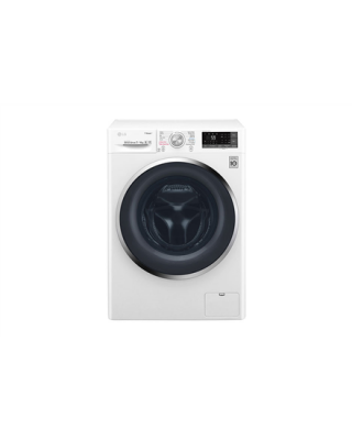 LG Washing machine with Dryer F2J7HG2W Front loading, Washing capacity 7 kg, Drying capacity 4 kg, 1200 RPM, Direct drive, B, Depth 45 cm, Width 60 cm, White, Steam function, LED, Drying system, Display