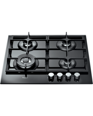 Whirlpool AKT6465NB Gas, Number of burners/cooking zones 4, Black,