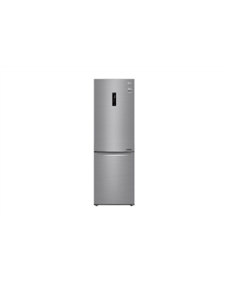 LG Refrigerator GBB71PZDZN Free standing, Combi, Height 186 cm, A++, No Frost system, Fridge net capacity 232 L, Freezer net capacity 107 L, Display, 36 dB, Platinum silver3
