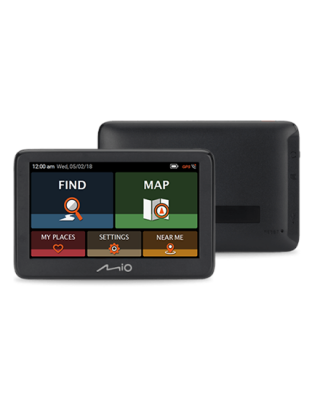 """Mio Car navigation Pilot 15 5"""" touchscreen, GPS (satellite), Maps included"""