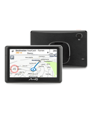 """Mio Car navigation Spirit 7700 5"""" touchscreen, GPS (satellite), Maps included"""
