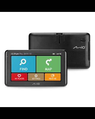 "Mio Truck navigation Spirit 8670 6.2"" touchscreen, Bluetooth, GPS (satellite), Traffic Message Channel (TMC), Maps included"