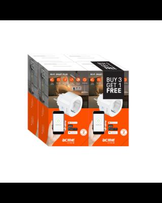 Acme Smart Wifi EU plug SH1101 Special 4pcs Bundle White