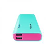 ADATA Power bank APT100-10000M-5V-CTBPK 10000 mAh, Tiffany Blue/ Pink
