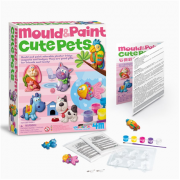 4M Cute Pets Mould and Paint, Suitable for children aged 5 and above.