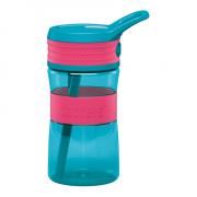 Boddels EEN Drinking bottle Bottle, Raspberry red/Turqouise blue, Capacity 0.4 L, Bisphenol A (BPA) free