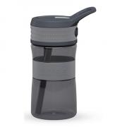 Boddels EEN Drinking bottle Light grey/Grey, Capacity 0.4 L, Diameter 7.5 cm, Yes
