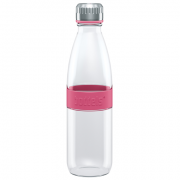 Boddels DREE Drinking bottle, glass Bottle, Raspberry red, Capacity 0.65 L, Yes