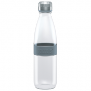 Boddels DREE Drinking bottle, glass Bottle, Light grey, Capacity 0.65 L, Bisphenol A (BPA) free