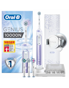 Oral-B Electric Toothbrush Genius 10000N For adults, Rechargeable, Teeth brushing modes 6, Number of brush heads included 4, Orchid Purple