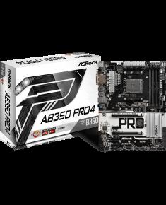 ASRock AB350 Pro4, AM4, DDR4 2667, 6 SATA3, 8 USB 3.0, HDMI, DVI-D, D-Sub