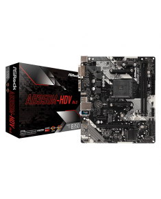 ASRock AB350M-HDV R4.0, AM4, DDR4 3200, 4 SATA3, 6 USB 3.1, HDMI, DVI-D, D-Sub