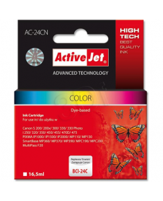 ActiveJet ink AC-24CN Canon BCI-24C color Action