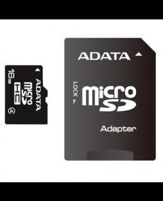 ADATA 16 GB, MicroSDHC, Flash memory class 4, SD adapter