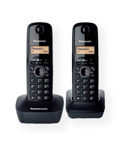 Panasonic Cordless KX-TG1612FXH Black, Caller ID, Wireless connection, Phonebook capacity 50 entries, Built-in display, Conference call