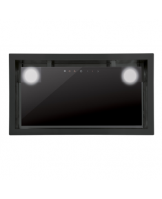 CATA Hood GC DUAL BK 45 Canopy, Energy efficiency class C, Width 49.2 cm, 820 m³/h, Touch control, LED, Black glass