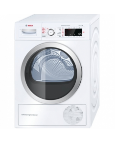 Bosch Dryer WTW855R9SN Steam function, Condensed, Heat pump, 9 kg, Energy efficiency class A++, Number of programs 14, Self-cleaning, White, Depth 65.2 cm, LED, Display