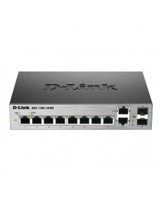 D-Link Metro Ethernet Switch DGS-1100-10/ME Managed L2, Desktop, 1 Gbps (RJ-45) ports quantity 8, Combo ports quantity 2, Power supply type Single
