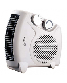 Adler AD 77 Fan Heater, Number of power levels 2, 2000 W, Number of fins Inapplicable, White