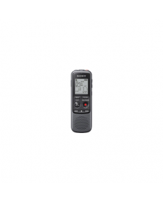Sony ICD-PX240 Black, Grey, MP3 playback, LCD Display, MAX. RECORDING TIME MP3 8KBPS (MONAURAL)1043 Hrs 0 MinMAX. RECORDING TIME MP3 48KBPS (MONAURAL)173 Hrs 0 MinMAX. RECORDING TIME MP3 128KBPS65 Hrs 10 MinMAX. RECORDING TIME MP3 192KBPS43 Hrs 25 Min min