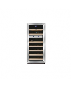 Caso Wine cooler Wine Duett 21 Free standing, Bottles capacity up to 21 bottles, Cooling type Peltier technology, Stainless Steel