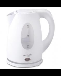 Adler Kettle AD 1207 Standard, Plastic, White, 2000 W, 360° rotational base, 1.5 L