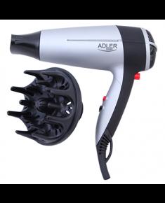 Hair Dryer Adler Warranty 24 month(s), Foldable handle, Motor type DC, 2000 W, White/Black