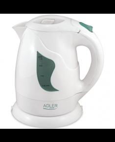 Adler AD 08 Standard kettle, Plastic, White, 850 W, 1 L, 360° rotational base