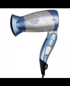 Hair Dryer Adler Warranty 24 month(s), Foldable handle, Motor type DC, 1300 W, Blue/Silver