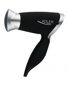 Hair Dryer Adler Warranty 24 month(s), Foldable handle, Motor type DC, 1250 W, Black/Silver