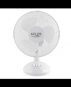 Adler AD 7302 Desk Fan, Number of speeds 2, 60 W, Oscillation, Diameter 23 cm, White