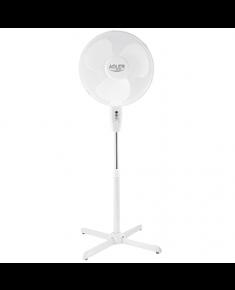 Adler AD 7305 Stand Fan, Number of speeds 3, 45 W, Oscillation, Diameter 40 cm, White