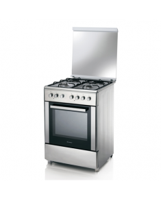 Candy Cooker CBCG6X543 Hob type Gas, Oven type Electric, Stainless steel, Width 60 cm, Depth 60 cm, 52 L