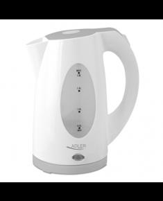 Adler Kettle AD 1208 Standard, Plastic, White, 2000 W, 360° rotational base, 1.8 L