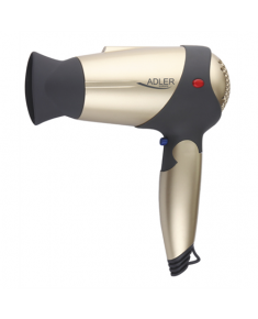 Hair Dryer Adler Warranty 24 month(s), Motor type DC, 1600 W, Gold/Black