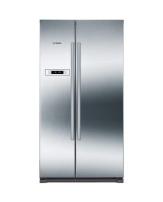 Bosch Refrigerator KAN90VI20 Free standing, Side by Side, Height 177 cm, A+, No Frost system, Fridge net capacity 373 L, Freezer net capacity 195 L, Display, 44 dB, Stainless steel