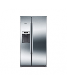 Bosch Refrigerator KAD90VI20 Free standing, Side by Side, Height 177 cm, A+, No Frost system, Fridge net capacity 370 L, Freezer net capacity 163 L, Display, 43 dB, Stainless steel