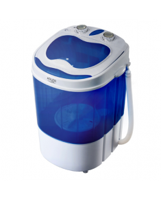 Adler Washing machine AD 8051 , Top loading, Washing capacity 3 kg, Unspecified RPM, Depth 37 cm, Width 38 cm, White/Blue