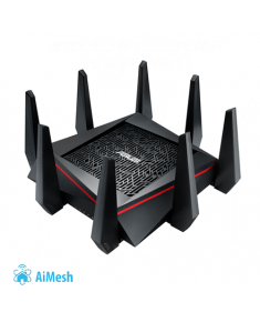 Asus Gaming Router RT-AC5300 10/100/1000 Mbit/s, Ethernet LAN (RJ-45) ports 4, 2.4GHz/5GHz/5GHz, Wi-Fi standards 802.11ac, 1000+2167+2167  Mbit/s, Antenna type External, Antennas quantity 8, USB ports quantity 2, Tri-band 4x4 Gigabit Wireless Router with AiProtection Powered by Trend Micro, ASUS AiMesh Wi-Fi System (Mesh), WTFast game accelerator inside for free, Link aggregation, adaptive QoS, ASUS router app support, Dual-WAN 3G/4G support