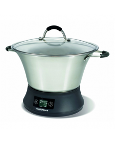 3 in 1  Slow Cooker Morphy richards Supreme Precision 461007 Stainless steel/Black, 800 W, 6.5 L