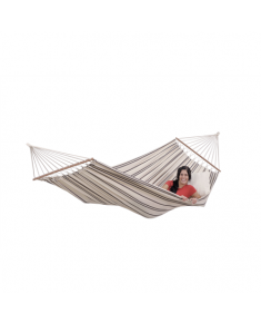 Amazonas Brasilia cappuccino Double Hammock with spreader bar, 210x140 cm, 150 kg