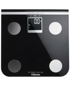 Scales Tristar Maximum weight (capacity) 150 kg, Accuracy 100 g, Memory function, 10 user(s), Black
