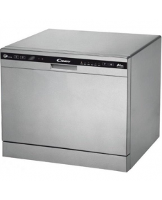 Candy Dishwasher CDCP 8/E-S Table, Width 55 cm, Number of place settings 6, Number of programs 6, A+, AquaStop function, Silver