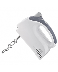 Adler AD 4201 g White, Hand mixer, 300 W, Number of speeds 5, Shaft material Stainless steel,